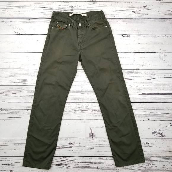 487613d8 Diesel Other - Diesel mens straight leg olive green jeans size 30